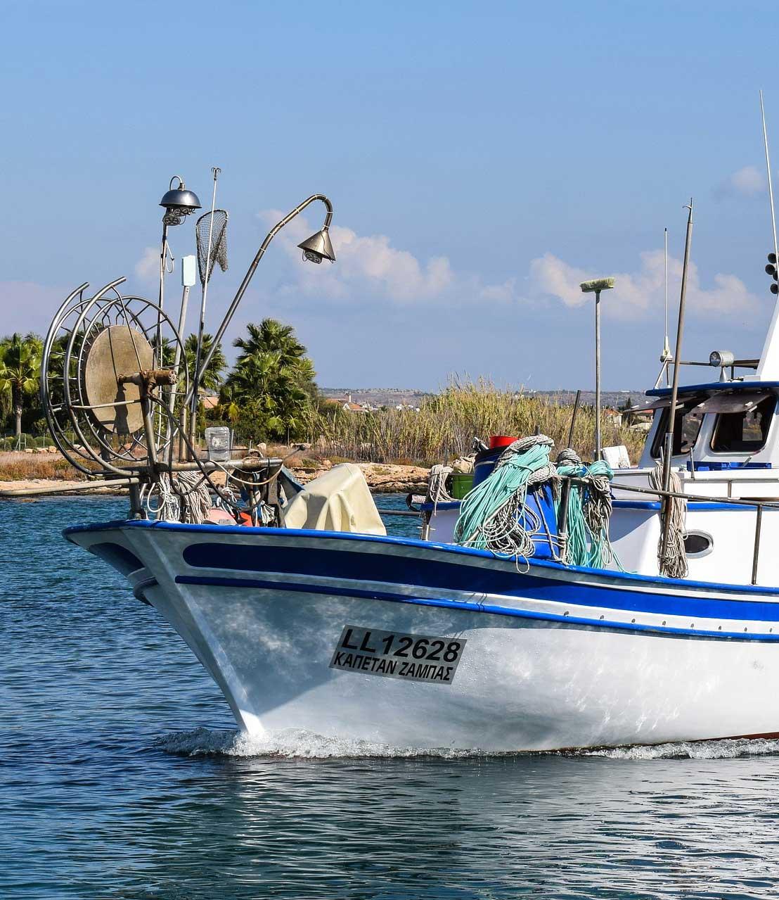 Seguro náutico barco de pesca